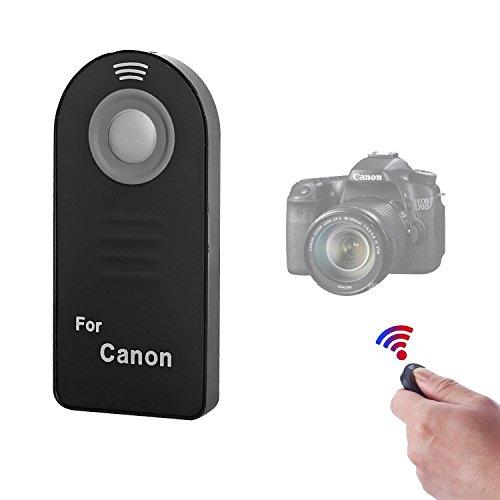 tter Remote Control Compatible with Canon EOS 6D Mark II, 5D Mark IV III II, 5DS 5DR, 7D Mark II, 77D 6D 7D 80D 70D 60Da 60D SL1 /Rebel T7i T6s T5i T4i T3i T2i T1i XSi XTi/M6 M5 M3 ()