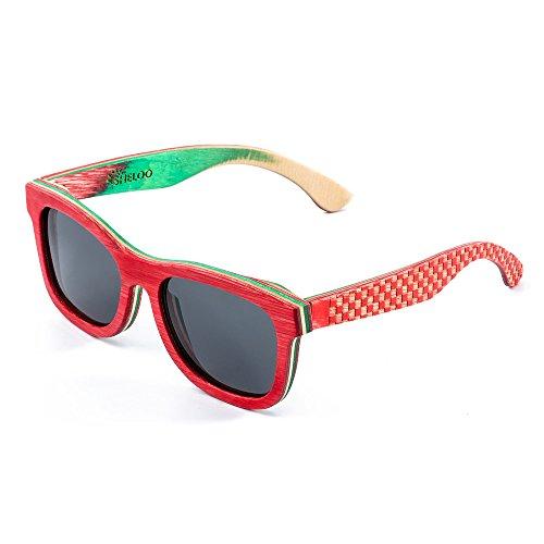 Bamboo Wood Polarized Sunglasses For Men&Women Retro Style 100% UV400 (014)