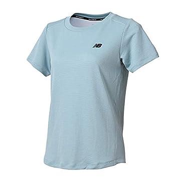 3d61ecb1fe764 ◎18FW ニューバランス(new balance) ダブルニットトレーニングショートスリーブTシャツ JWTP8520MLS レディース