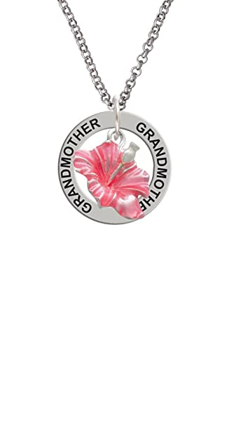 Amazoncom Silvertone Hot Pink Hibiscus Flower Grandmother