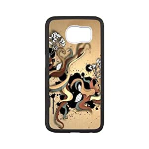 Samsung Galaxy S6 Cell Phone Case Black Abstract Color Twirls FXS_725034