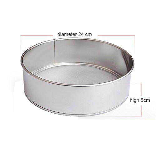 Gabkey Stainless Steel 40 Mesh Flour Sieve Sifting Strainer Cake Baking Kitchen 24cm