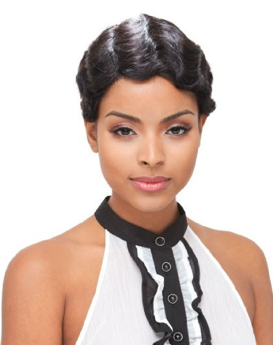 JANET COLLECTION Human Full Lace Wig MIMI - Color #1 - Jet Black