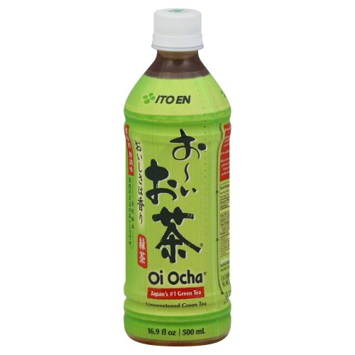 Ito En Tea Beverage, Unsweetened Oi Ocha Green, 16.9 Ounce Bottles (48 pack) by Ito En