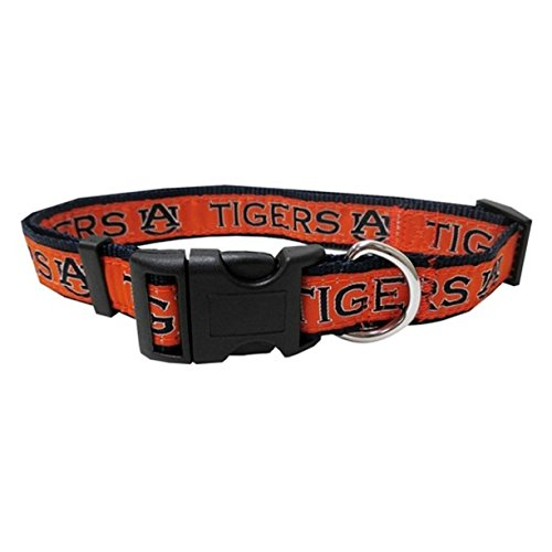 Auburn Tigers Pet Collar by Pets First - Large