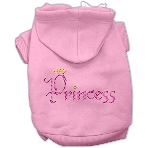Mirage Pet Products Princess Rhinestone Hoodies, Size 14, Pink