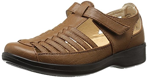 Easy Street Womens Doris Flat Tan Burnish AnLGiSnS