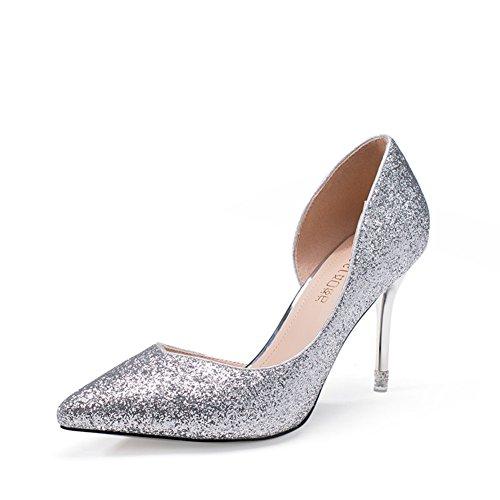 fait pour à Talons B à peu a fashion chaussures Glett Bouche coréenne l'automne Chaussures la talon hauts profonde BgtqOxO