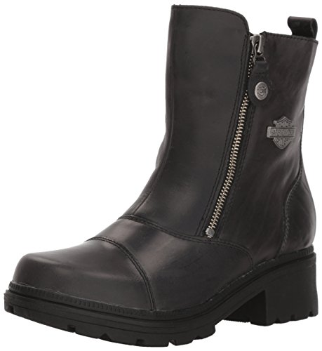 Harley-Davidson Women's Amherst Motorcycle Boot, Black, 8 Medium US