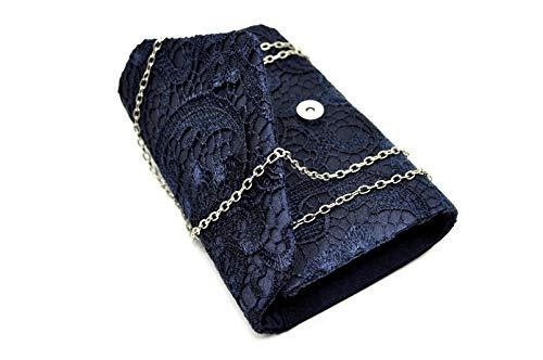 Nodykka Wedding Pleated Floral Lace Clutches Bag Evening Cross Body Handbags Purse by Nodykka (Image #2)