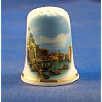 Porcelaine anglaise de collection avec dé à coudre en porcelaine Motif Canaletto in Venice