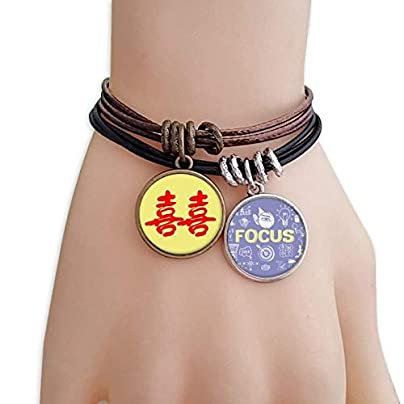 SeeParts Wedding Chinese Wish Words Celebrate Bracelet Rope Wristband Force Handcrafted Jewelry Estimated Price £9.99 -