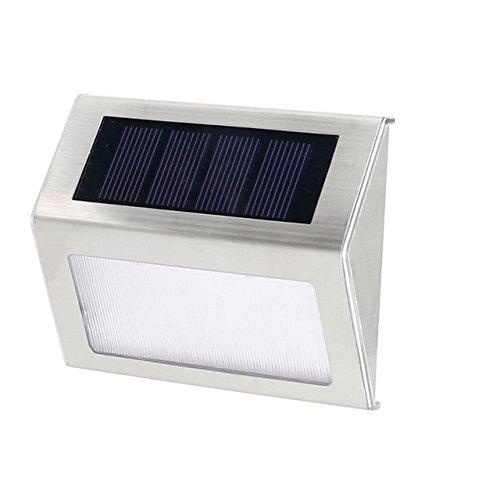 Solar Aluminum Alloy Light 2 LED Waterproof for Step, Garden, Yard, Deck – White Light (1) Review