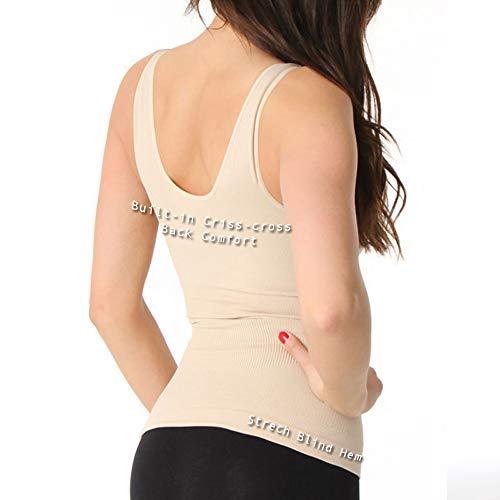 448781e28 Aha Moment n-fini Women s Plus V-Neck Tank Shapewear Built-in Bra ...