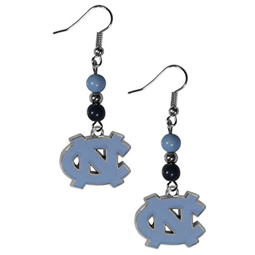 NCAA North Carolina Tar Heels Fan Bead Dangle Earrings