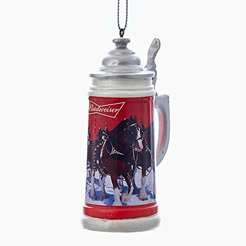 Pack of 12 Happy Hour Anheuser Busch Budweiser Stein Beer Mug Christmas Ornaments 4
