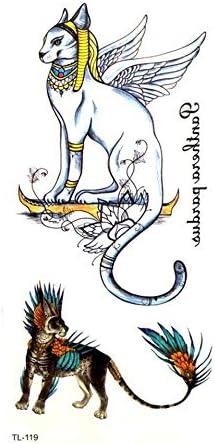 ruofengpuzi Dios Griego-Muerto del Gato Impermeable Tatuaje ...