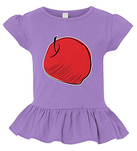 The Apple - Tree Fruit Matching Toddler/Youth Ruffle Jersey Tee (Light Purple, 2T (Toddler))