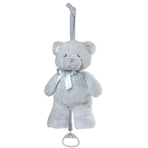 - Baby GUND My First Teddy Musical Lullaby Stuffed Animal Plush Pull Down, Blue, 10