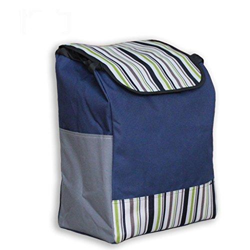 MOXIN Shopping cart - bag Oxford Cloth Supermarket Baggage bag , cyan stripes