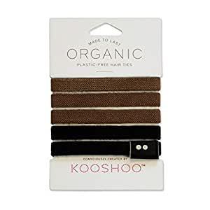 ORGANIC HAIR ELASTICS in BROWN AND BLACK | Biodegradable, Plastic-Free Hair Ties Made Ethically in the USA