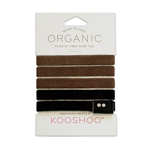 - ORGANIC HAIR ELASTICS in BROWN AND BLACK | Biodegradable, Plastic-Free Hair Ties Made Ethically in the USA