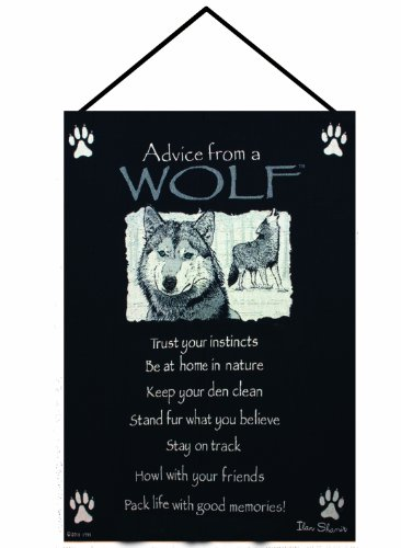 (Manual Advice From a Wolf Woven X Your True Nature Wall Hanging, 17 X 26-Inch)
