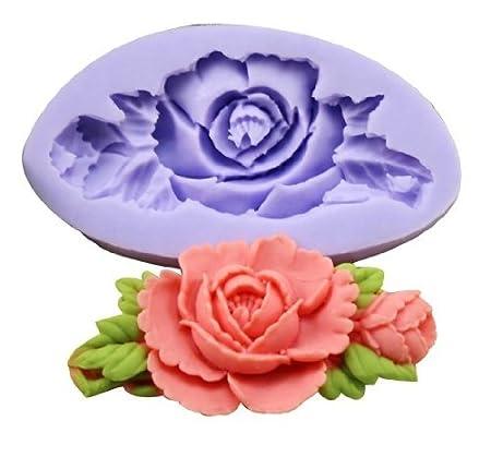 Molde de Silicona Dise/ño Mini Flor para Decoraci/ón de Tartas Reposter/ía Chocolate Cupcake Allforhome