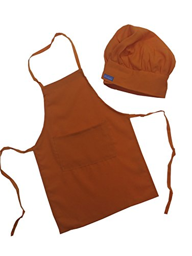 [Chefskin Orange Apron + Hat Baby Toddler Kid Children Chef Set Lite Fabric] (Original Toddler Halloween Costumes)