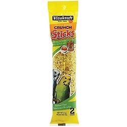 Vitakraft Triple Baked Crunch Sticks w/ Egg and Honey 1.4 oz. (Pack of 2) by Vitakraft