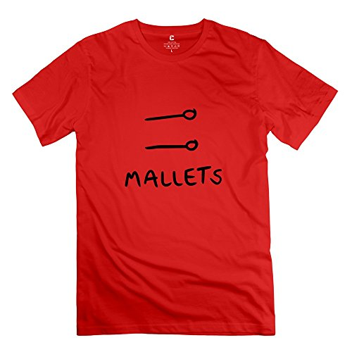 LinYang Gentleman Vintage Mallets T-shirt S Red