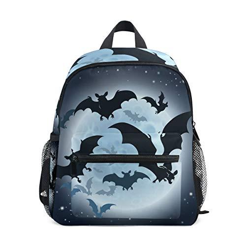 Happy Halloween Bat Kid Backpack School Bag Bookbag Children Travel Daypack Girl Boy 3-8 Years Old Toddler Preschool
