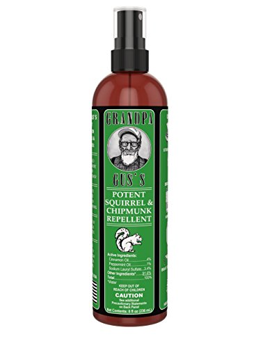 Grandpa Gus's GCC-8-15 All Natural Squirrel & Chipmunk Repellent Spray, 8 oz ()