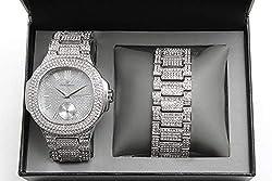 Silver Watch w/Matching Bracelet Gift Set