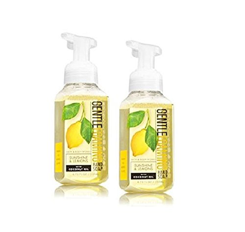 Bath and Body Works Gentle Foaming Hand Soap, Sunshine and Lemons (2-Pack) 8.75 Ounce ()