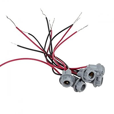 KOMAS 5 pcs T10 Replacement Plug Sockets Extened Wiring Harness pigtail for Cab Roof Running Marker light: Automotive