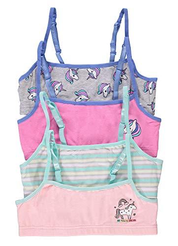 Fun Unicorn Girls Training Bras   Crop Tops 4-Pack Size L (14)