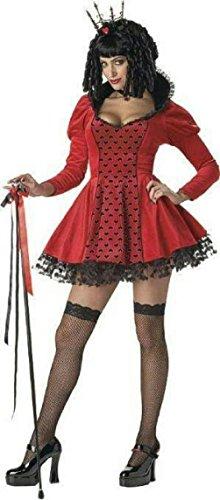 Zombie Queen Of Hearts Halloween Costume (Women's Dark Evil Sexy Queen of Hearts Adult Costume Medium)