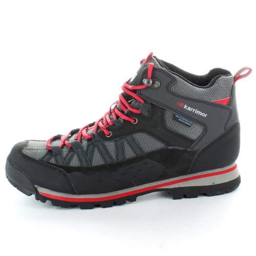Karrimor Mens Spike Waterproof and Breathable Mid Walking Boots Black Red