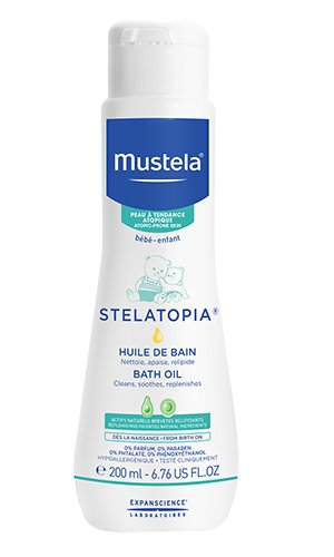 Mustela Stelatopia Bath Oil for Eczema-Prone Skin, 6.7 oz.