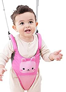 Zicac Toddler Cute Animals Ultra Comfy Mesh Safety Harness Leash Adjustable Baby Walker Strap Belt (Pink)