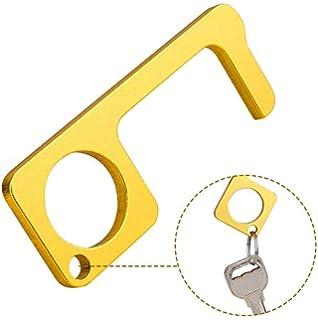 Jannyshop Hand No-Touch Door Opener Closer Stylus Keep Hands Clean Self-Cleaning Reusable Hand Brass EDC Door Opener Protection