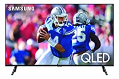 The Samsung QN82Q70RAFXZA Flat 82-Inch QLED 4K Q70 Series Ultra HD Smart TV's full array backlighting presents gorgeous blacks and radiant whites within scenes, plus an intelligent 4K processor that upscales the picture and optimizes every sc...
