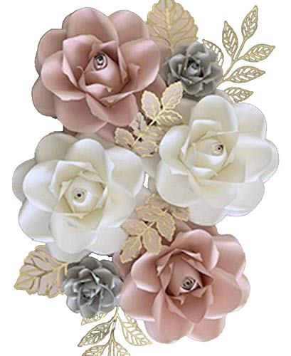 BUBBAPAINT. 3D Paper Flower Decorations for Wall. Backdrop for Décor. Giant Size Pre-Assembled Flower. Girl nursery Wall…