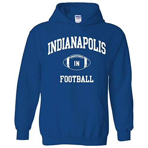 Indianapolis Classic Football Arch American Football Team Sports Hoodie - X-Large - Royal (Indianapolis Colts Hoodie)