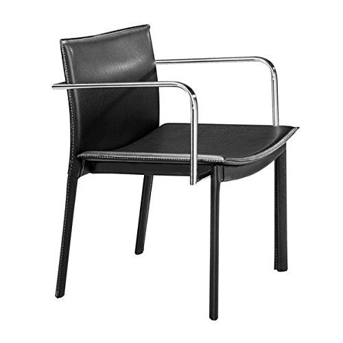 Zuo Dining Room Chair, Black Gekko Eclectic Design Modern Conference Chairs, Set of ()