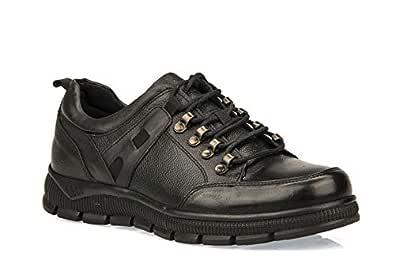 Ziya, Hakiki Deri Erkek Ayakkabı 93415 573076 SIYAH 40