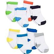 Gerber Baby 8 Pack Snug-fit Crew Sock, Color Block, 0-6 Months