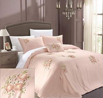 b722750ce8b9b Chic Home Rosetta 5-Piece Comforter Set, Queen, Pink