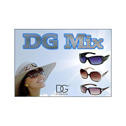 Dg Eyewear Wholesale - Wholesale DG Assorted Sunglasses Dozen with FREE Micro Fiber Soft Pouches